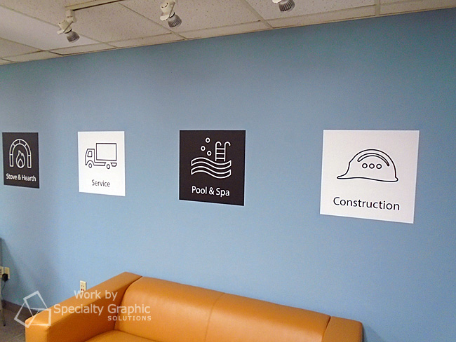 Custom wall graphics brighten open space for Evosus, Vancouver WA.jpg