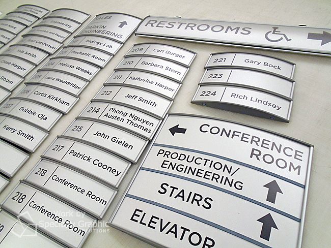 Modular wayfinding signs for Smith-Root's new HQ in Vancouver WA.jpg