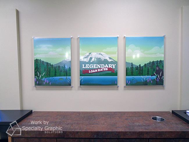 Custom wall art with acrylic standoffs Washougal WA