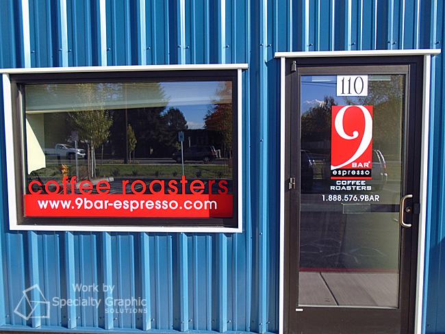 Door and window vinyl graphics Vancouver WA
