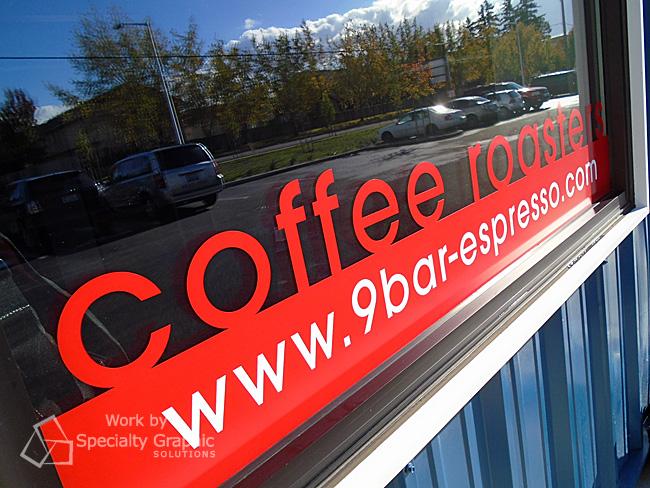 Vinyl window graphics Vancouver WA