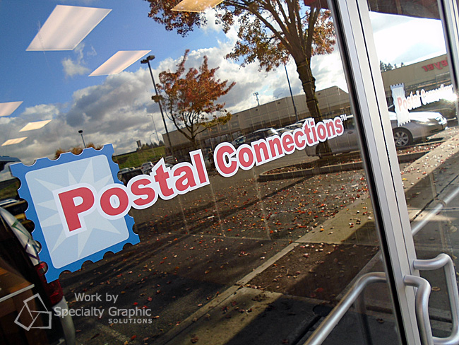 Vinyl window graphics - Postal Connections Vancouver WA.jpg