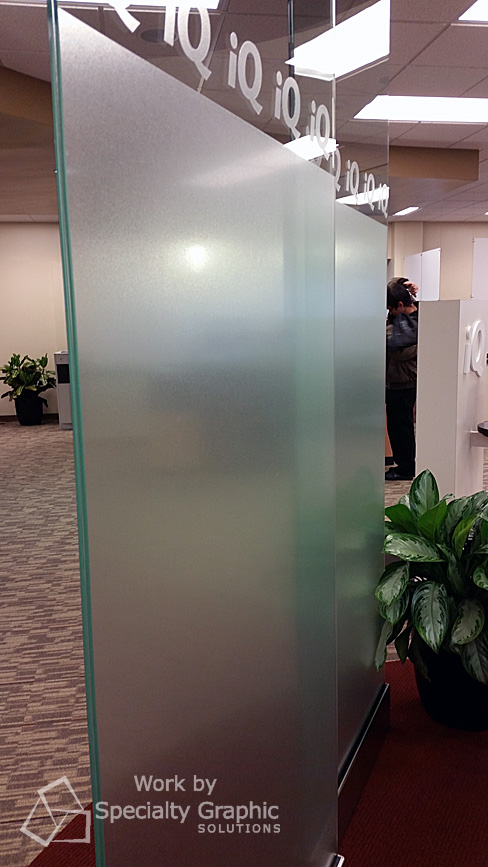 3M Fasara Frosted finish on glass panels at iQ Credit Union Washougal WA.jpg