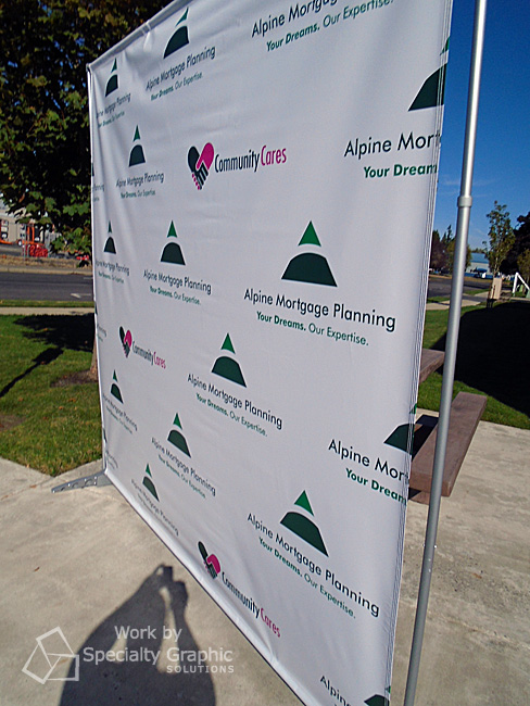 8' x 8' step & repeat banner with adjustable stand from SGS in Vancouver WA.jpg