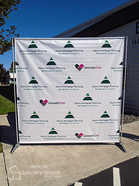 8' x 8' Step & Repeat Banner makes a great backdrop.jpg