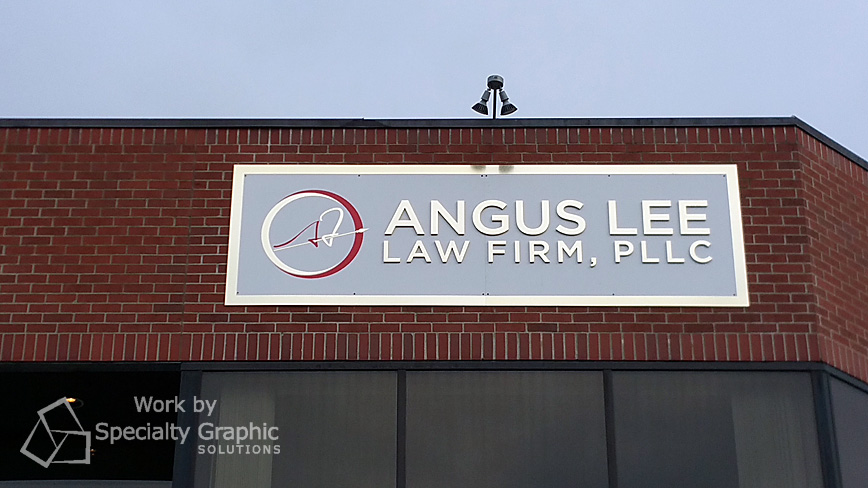 Their new building sign...
