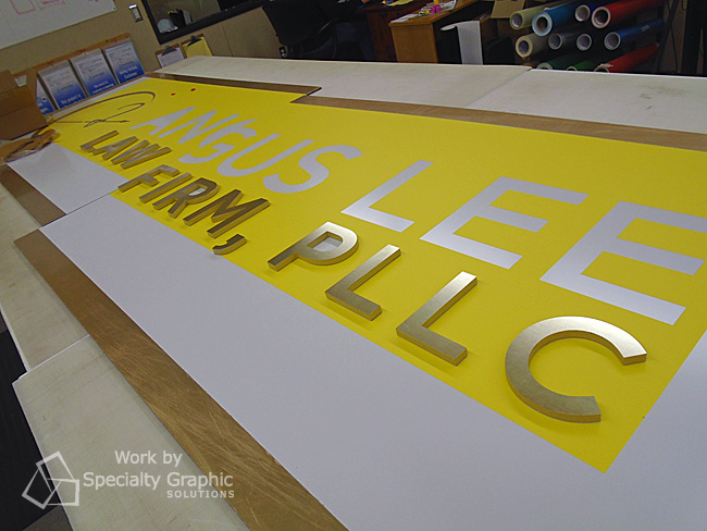 Matching building signs and lobby signs for branding in Vancouver WA