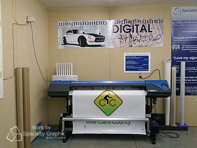 Printing trailer graphics on a large format printer