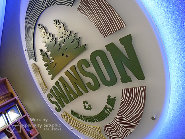Lobby Signs and Dimensional Logo Signs