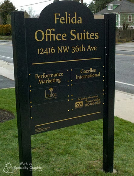 Executive Suite Post and Panel Signs Portland OR