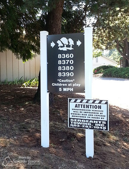 Post and Panel Signs for Property Managers in Portland OR