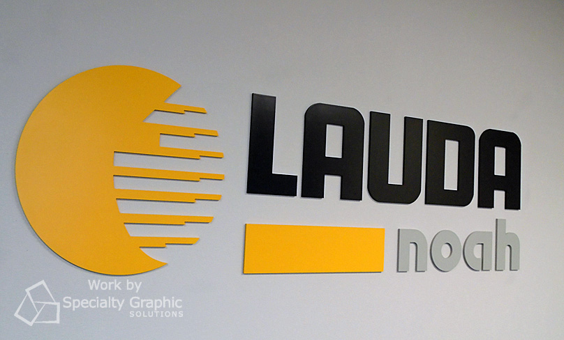 Raised lettering and logo for LAUDA Noah in Vancouver WA.jpg