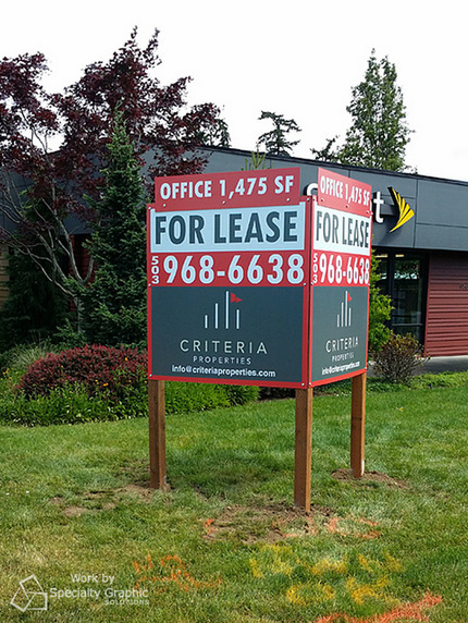Commercial For Lease Signs Vancouver WA