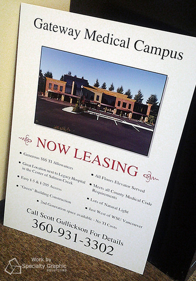 Commercial Real Estate Flyers and Brochures Vancouver WA