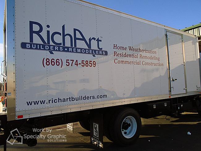 Box Truck Graphics Vancouver WA