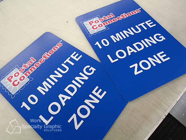Loading Zone signs for businesses in Vancouver WA