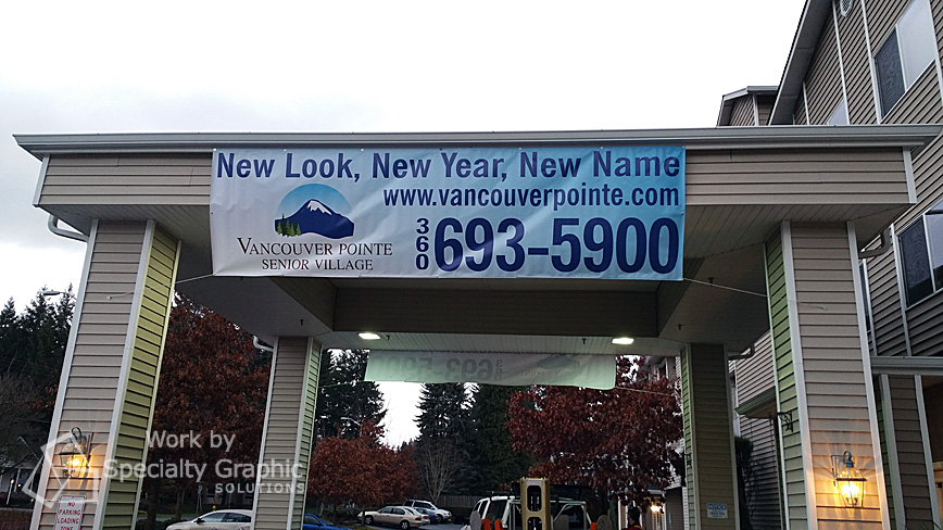 Temporary business banners Vancouver WA