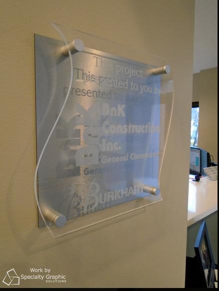 Acrylic logo panel lobby signs Vancouver WA