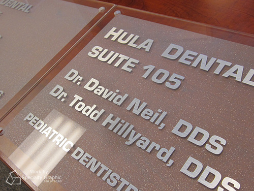 Custom office suite signs Vancouver WA