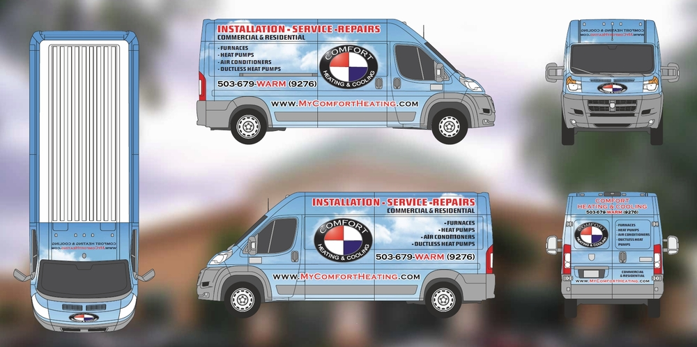 Fleet Van Wrap Design Proofs Portland OR