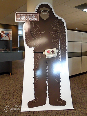 Big Foot cardboard cutout