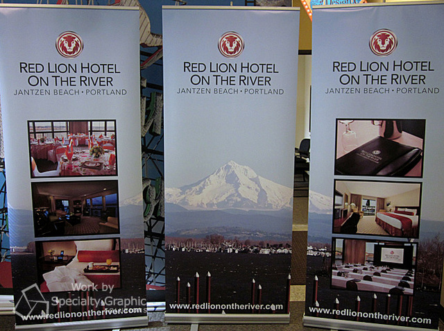 Retractable banner stands for Trade Shows in Vancouver WA