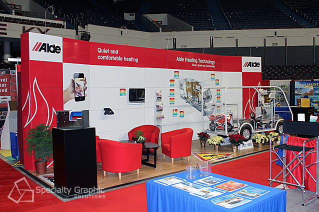 Back lit trade show displays in Vancouver WA
