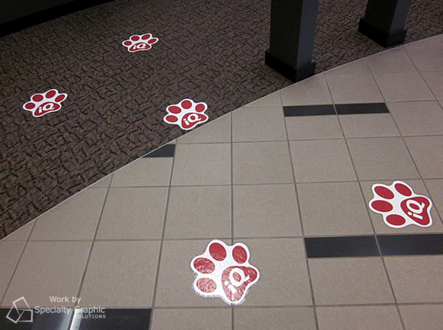 Trade show floor graphics Vancouver WA