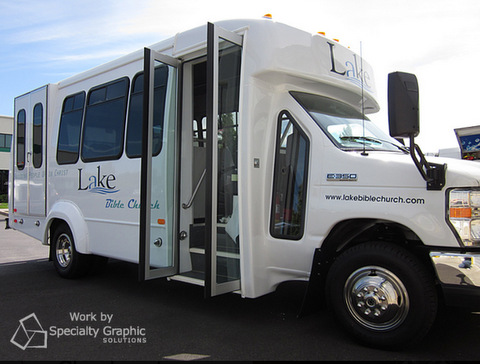 If you provide a courtesy shuttle to your auto dealership hotel car rental business or any other enterprise vinyl lettering is a must