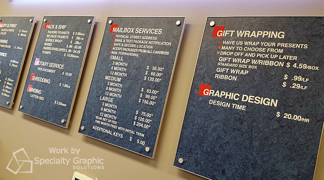 Menu Board signs for retail stores in Portland Oregon