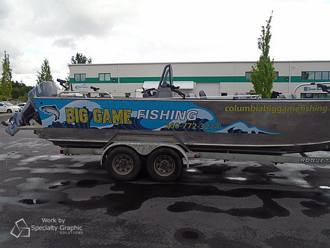 Boat Graphics For Fishing Tours In Portland Oregon