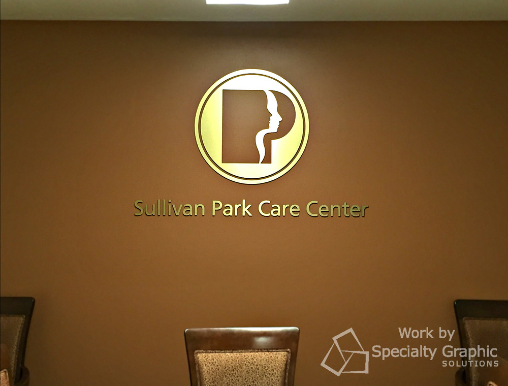 Acrylic & Metal Logo Sign for Sullivan Park Care Center, Spokane WA.jpg