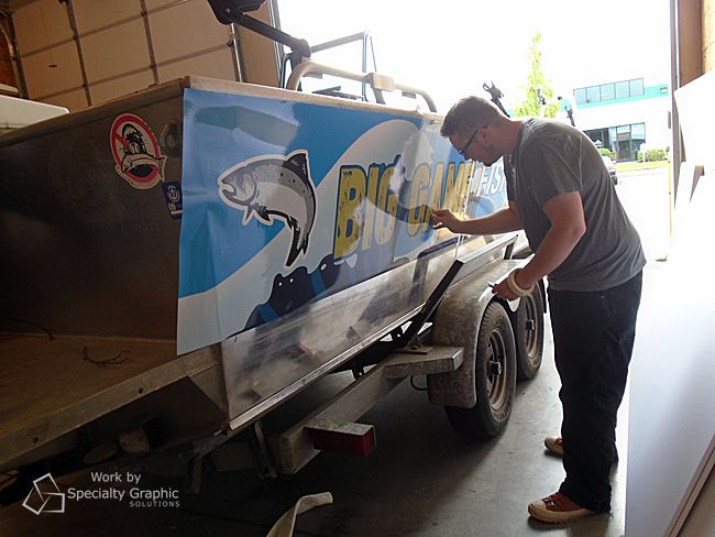 Fishing boat graphics installation at SGS - Vancouver WA.jpg