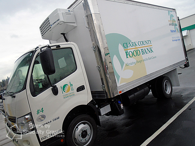 Graphics create consistent branding on all fleet vehicles at Clark County Food Bank.jpg