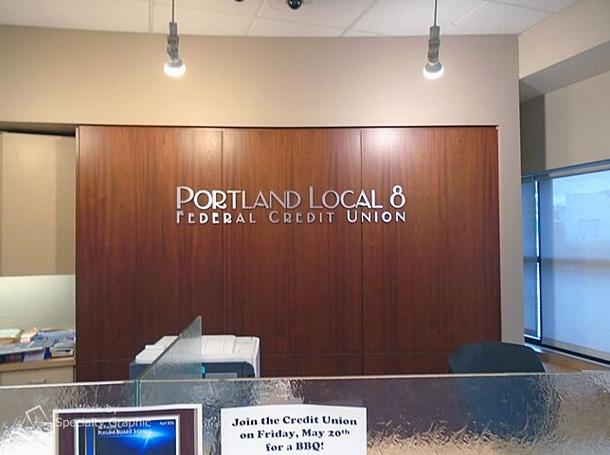 Interior Dimensional Lettering Portland Oregon