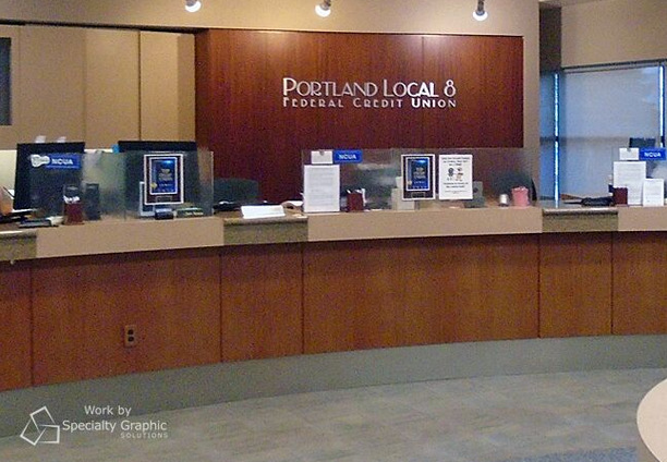 3D Letters for Banks and Credit Unions in Portland OR