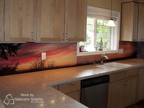Digital Print Graphics - Vinyl Backsplashed for Kitchens in Vancouver WA