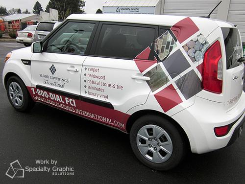 Partial Car Wraps in Portland Oregon