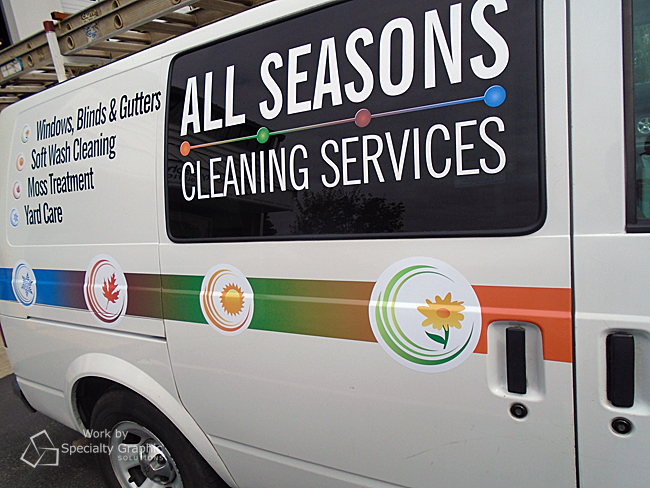 Vinyl Graphics for Cleaning Service Van Vancouver WA.jpg