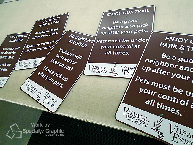 Metal signs for Village on the Glen HOA.jpg