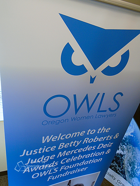 Oregon Women Lawyers' new logo looks great on a retractable banner by SGS.jpg