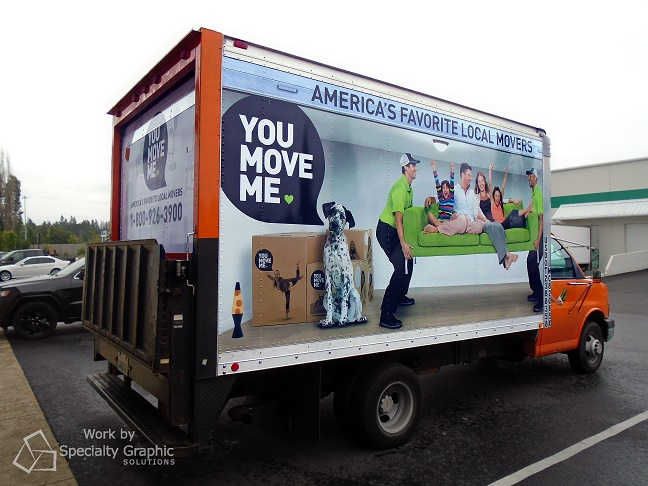 Box truck is moving billboard with full graphics on 3 sides.jpg