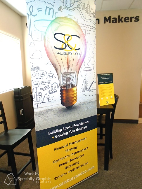 Retractable Banner and table top display for Salsbury & Co.jpg
