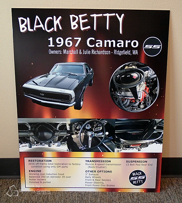 Car Show sign for 1967 Camaro Vancouver WA.jpg