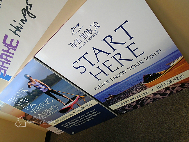 Sandwich board sign inserts for Yacht Harbor Apartments in Portland OR.jpg