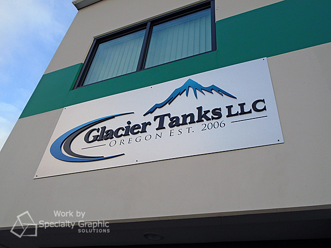 Dimensional logo building sign for Glacier Tanks.jpg