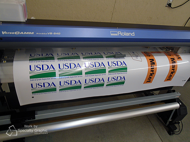 There's always something new coming off the wide format printer at Specialty Graphic Solutions.jpg