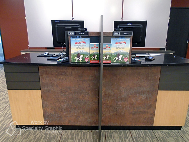 Custom teller stations perfect for displaying promotional materials Washougal WA.jpg