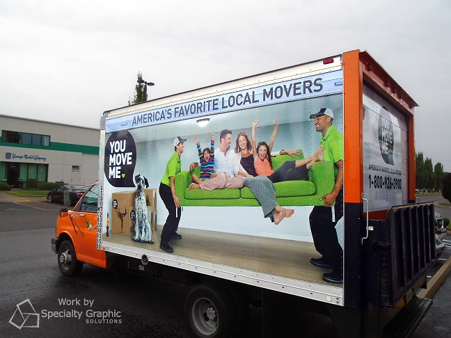 Box Truck Wraps for Moving Companies in Vancouver WA