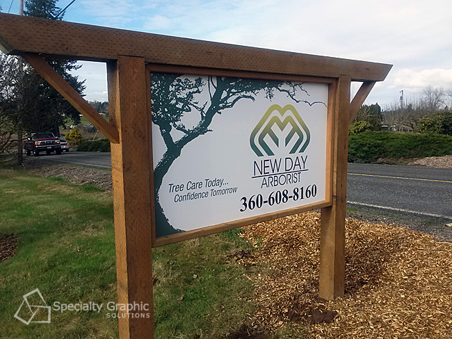 Double-sided post and panel signs in Vancouver WA
